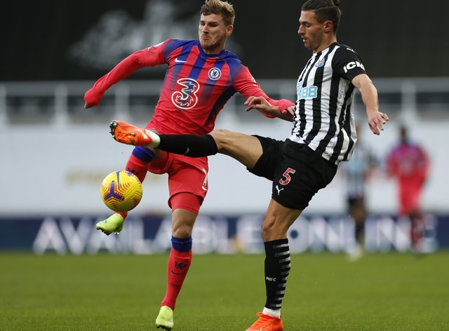 Chelsea's Timo Werner (left) was praised