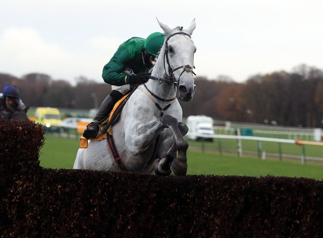 Bristol De Mai on his way to a third Betfair Chase victory