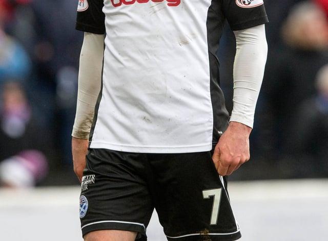 Michael Moffat scored his 100th Ayr goal