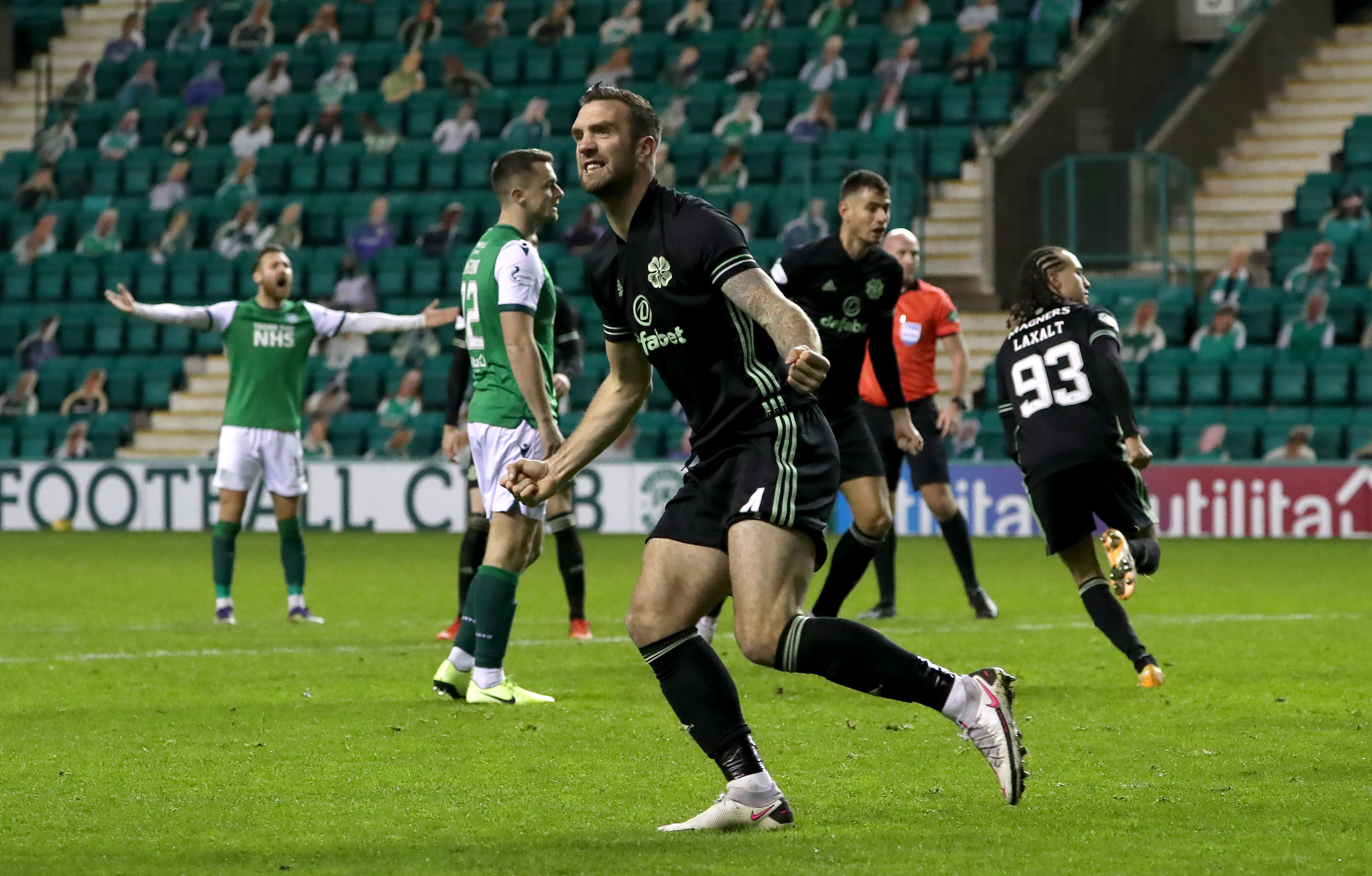 Diego Laxalt's late leveller rescues point for Celtic at Hibernian