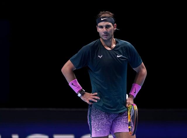 Rafael Nadal looks despondent during his loss to Daniil Medvedev