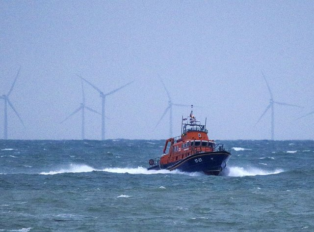 An RNLI Lifeboat was part of the search for the two fishermen that went missing near Seaford, Sussex