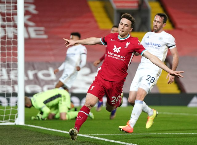 Diogo Jota scored Liverpool's second