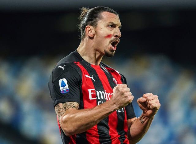 Zlatan Ibrahimovic's brace helped keep AC Milan on top in Serie A