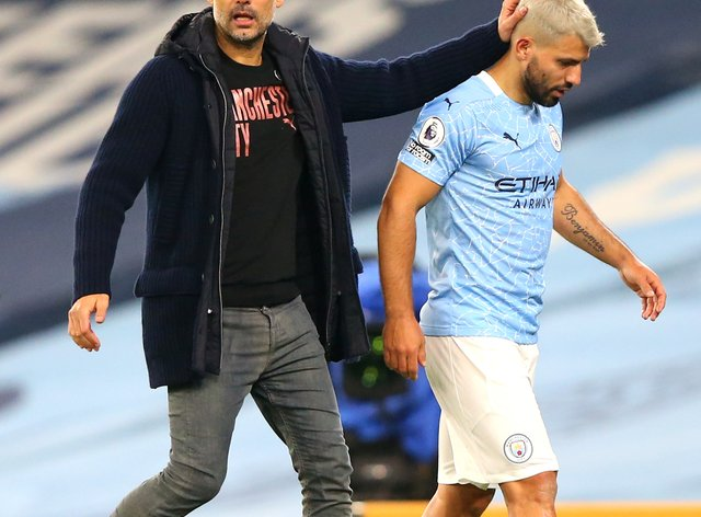 Pep Guardiola is cautious about how to use Manchester City forward Sergio Aguero now he is back from injury