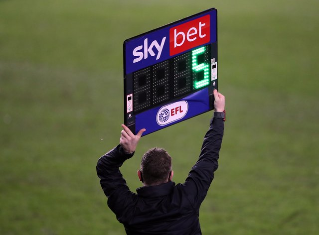 EFL clubs are once more allowed to make five substitutions