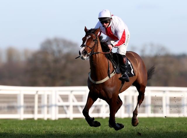 Goshen is set to return to jumping action at Cheltenham next month