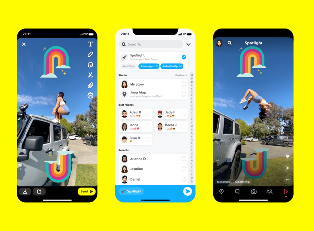 Snapchat's new Spotlight feature