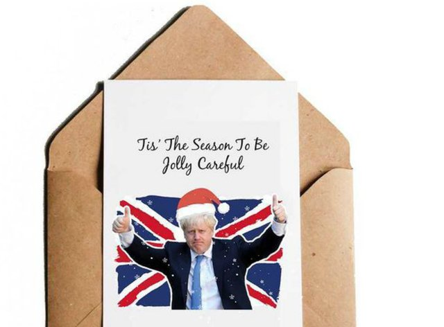 CaliPrintsbyHollie's Boris Johnson-inspired Christmas card
