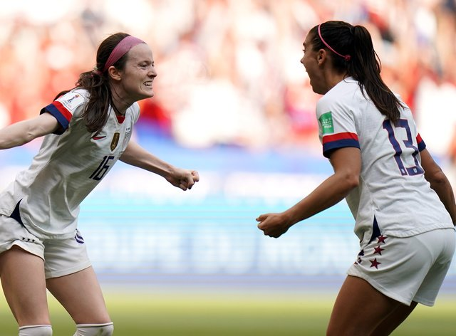 <p>Morgan and Lavelle hope to be teaming up in the friendly against the Netherlands</p>