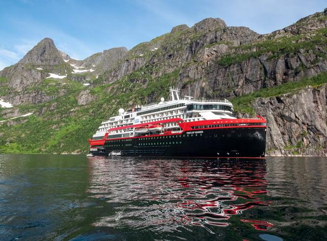 Hurtigruten MS Fridtjof Nansen (Andrea Klaussner/PA)