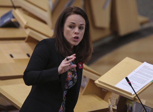 Kate Forbes in the Scottish Parliament