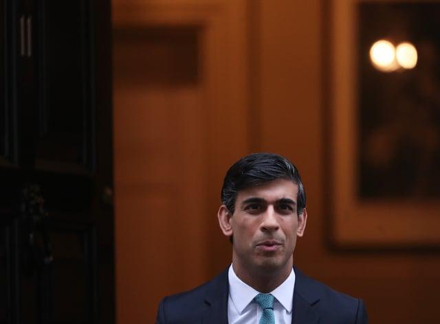 Chancellor Rishi Sunak leaves 11 Downing Street