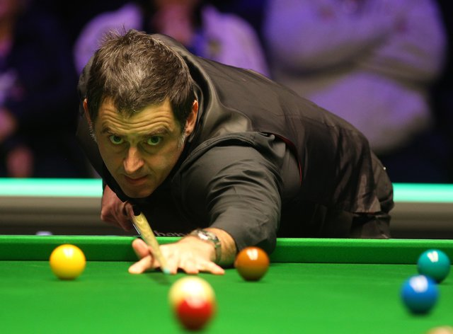 Ronnie O'Sullivan did not hang around in his first-round match at the Marshall Arena