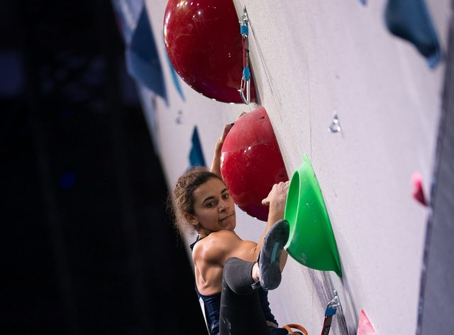 <p>Molly Thompson-Smith scaling new heights</p>