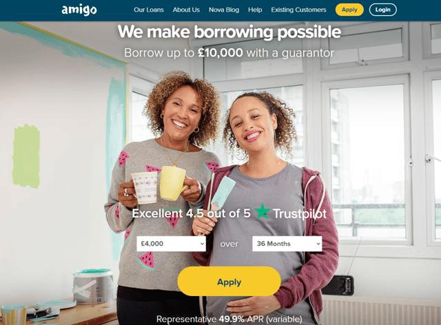 An Amigo loans advert