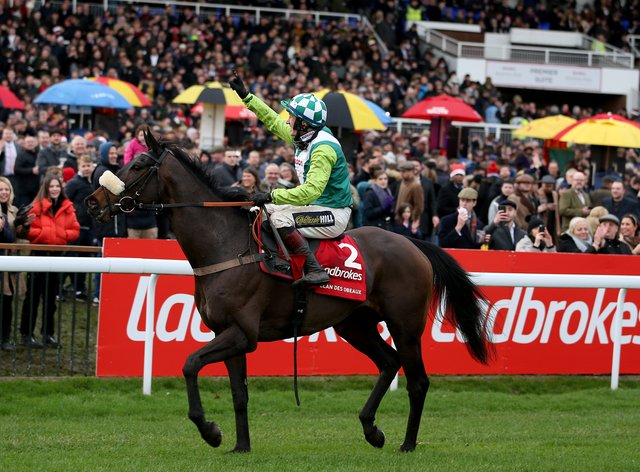 Clan Des Obeaux is on course to defend his crown in the Ladbrokes King George VI Chase