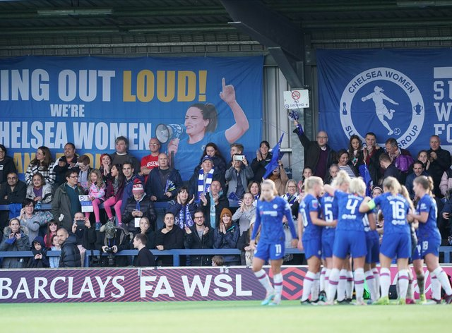 Women's Super League champions Chelsea should be able to welcome back fans next weekend