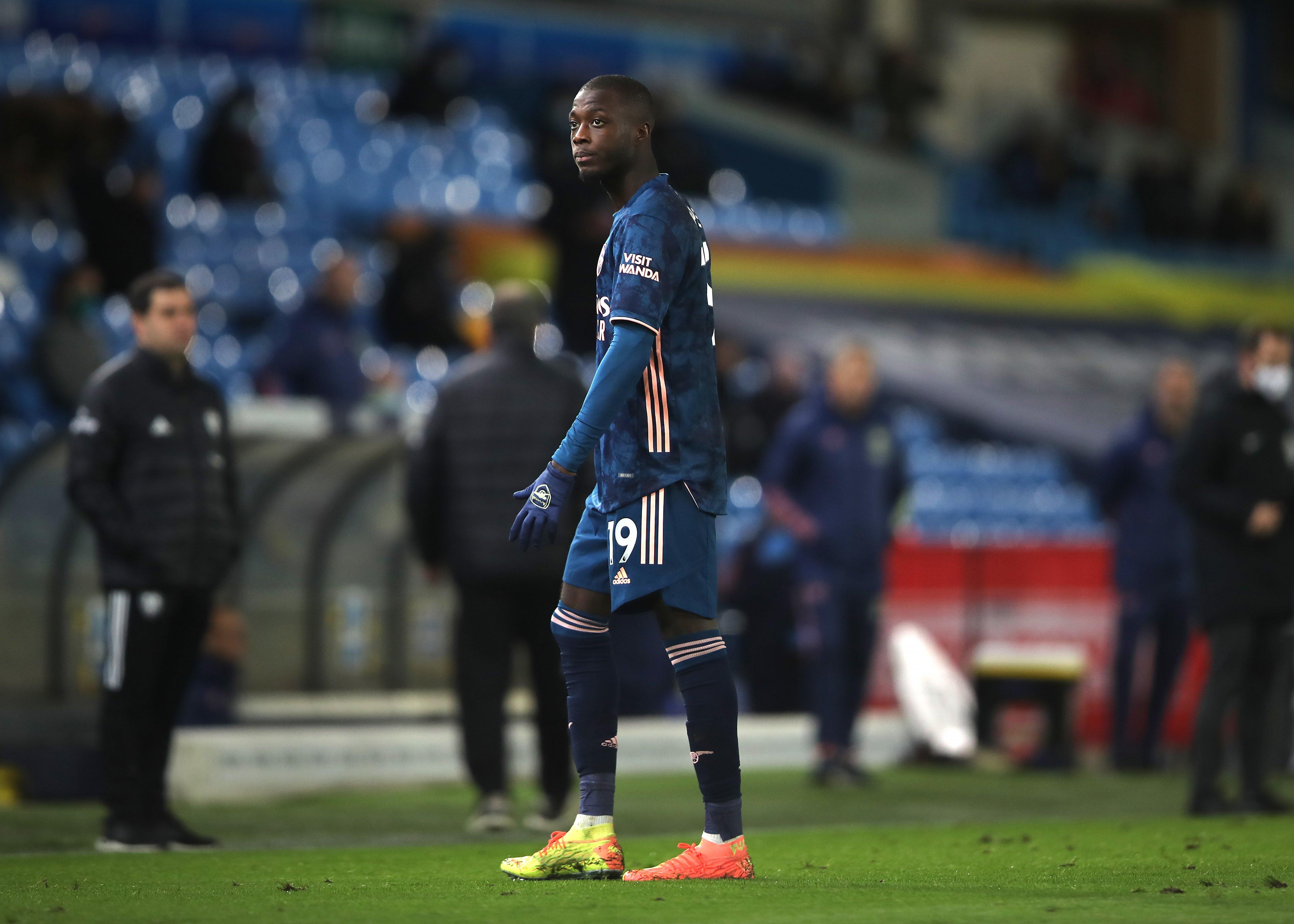 Mikel Arteta hails Nicolas Pepe's goalscoring response to Leeds red card