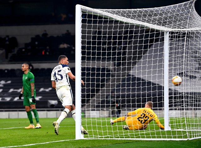 Carlos Vinicius scored twice to help Tottenham beat Ludogorets 4-0 and remain on track for the knock-out stage of the Europa League
