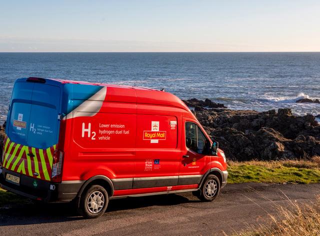 The new Royal Mail dual fuel hydrogen van