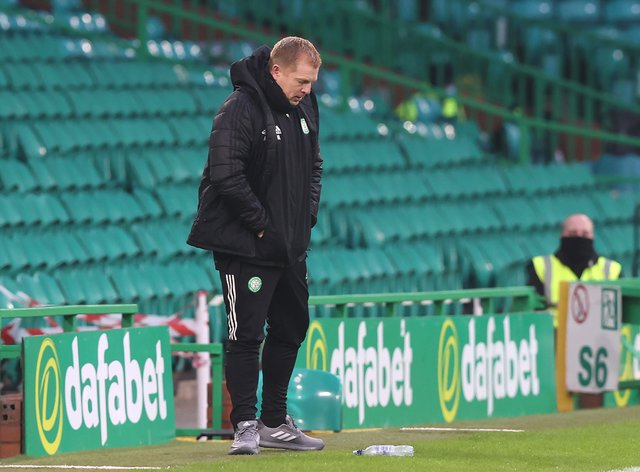 Neil Lennon during defeat by Ross County