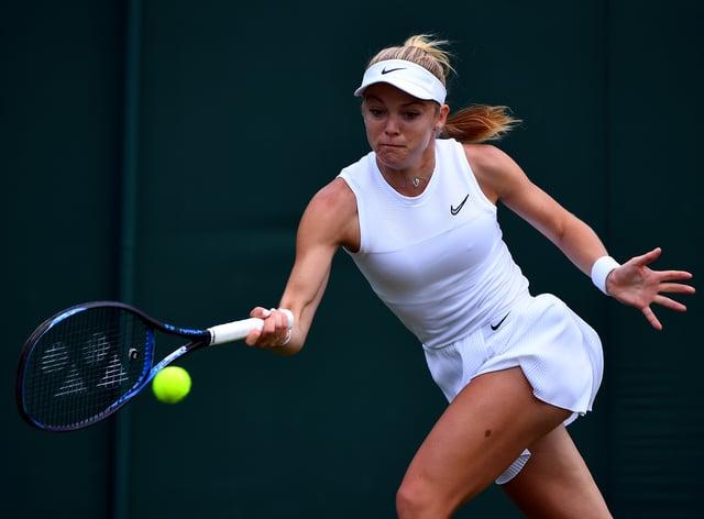 <p>Katie Swan is ready to return to the court next season&nbsp;</p>