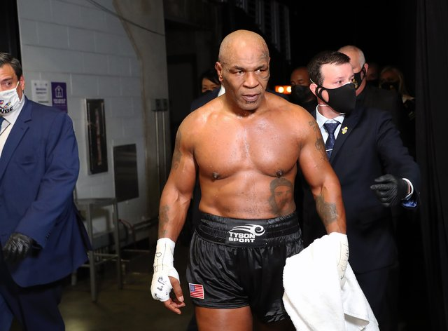 Tyson returned to the ring for the first time in 15 years on Saturday night