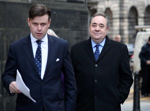 Alex Salmond (right) and lawyer David McKie