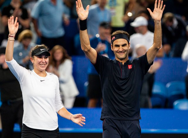 <p>Belinda Bencic says she would like to 'compete' with Roger Federer next summer</p>