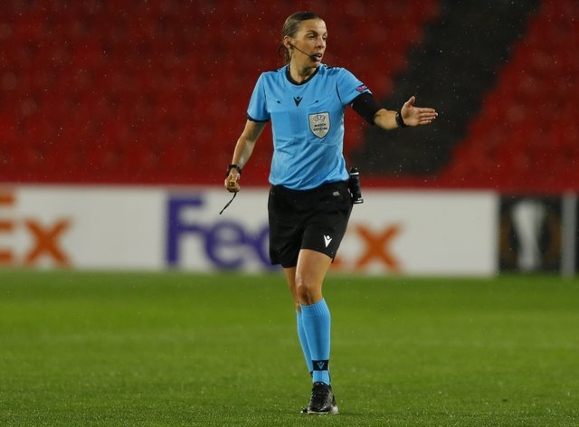 <p>Stephanie Frappart continues to pave the way for female referees&nbsp;</p>
