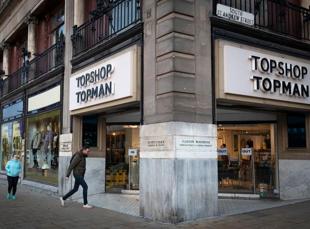 Topshop Topman store on Princes Street, Edinburgh