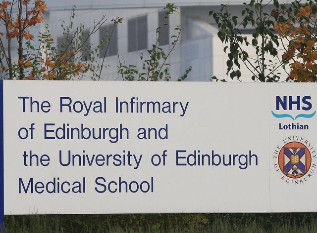 Royal Infirmary of Edinburgh sign