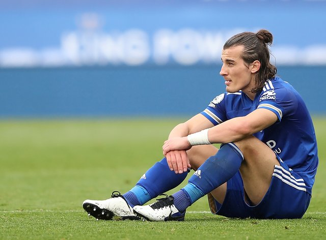 Caglar Soyuncu's return from injury lasted only 16 minutes before he suffered a recurrence of his groin problem in the Europa League on Thursday.