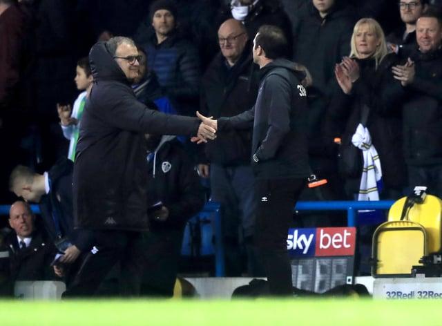Marcelo Bielsa (left) and Frank Lampard have endured a tough relationship