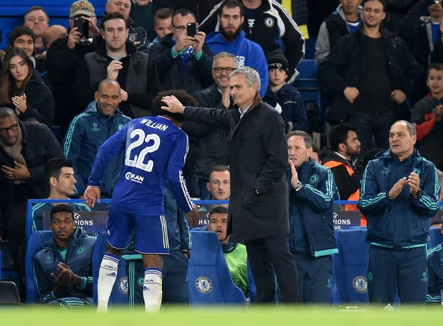 Jose Mourinho worked with Willian at Chelsea