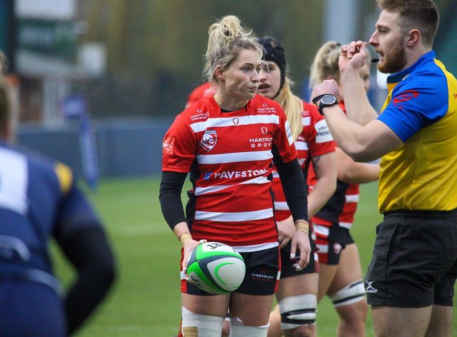 Natasha Hunt's Gloucester defeated Worcester yesterday