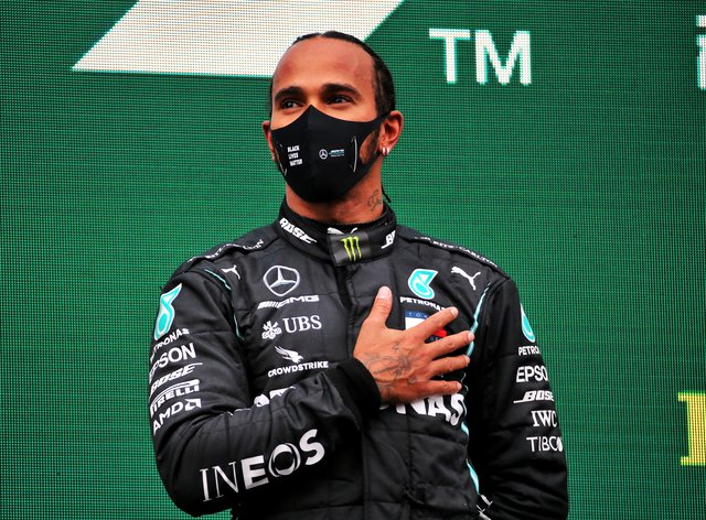 Hamilton is hoping to recover from coronavirus and be back for the final race of the season