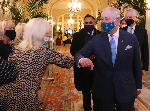 The Prince of Wales visit to the Ritz