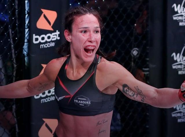 <p>Juliana Velasquez is the new Bellator women's flyweight champion&nbsp;</p>