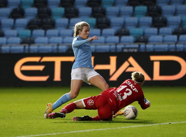 Lauren Hemp has scored for City in this tie