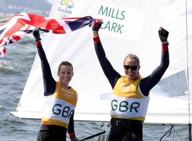 <p>Hannah Mills (left) said Tokyo 2020 postponement left her with some tricky decisions to make</p>