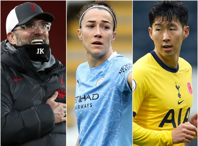 Jurgen Klopp, Lucy Bronze and Son Heung-min