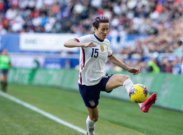 <p>Rapinoe hasn't played since the SheBelieves Cup</p>