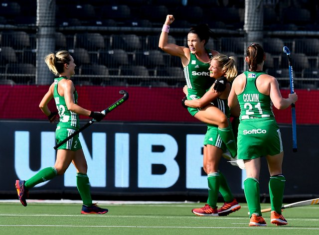 <p>Ireland's women's hockey team secured their place for Tokyo last year</p>