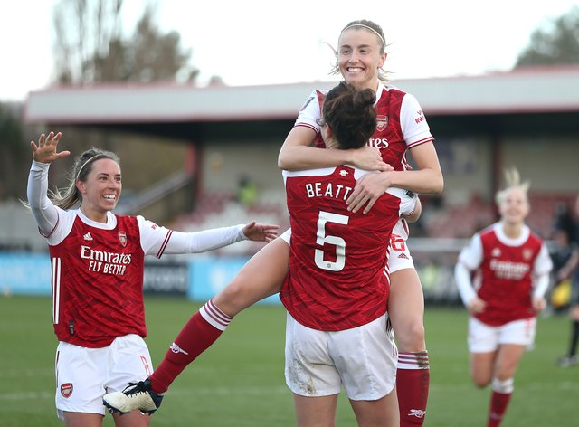 Arsenal have gone second in the WSL