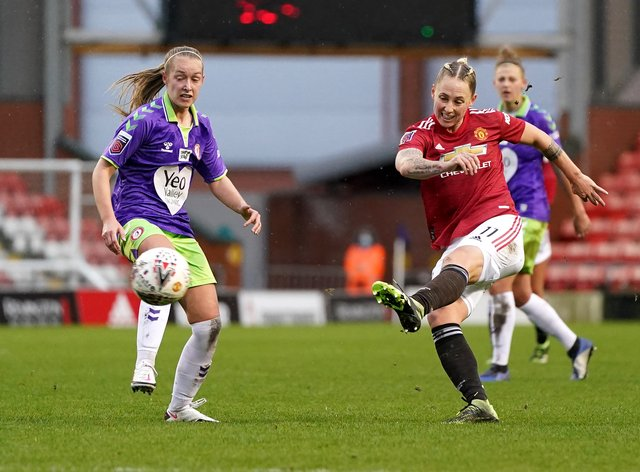 <p>Leah Galton scored a stunner for United</p>