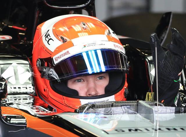 Formula One driver Nikita Mazepin