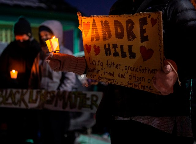 A vigil for Andre Hill