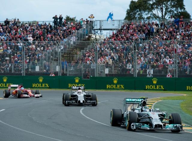 Melbourne's Albert Park hosts the Australian Grand Prix
